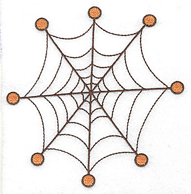 Embroidery Design: Spider web large 4.88w X 4.99h