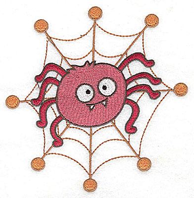 Embroidery Design: Spider in web 4.88w X 4.99h