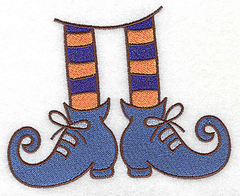 Embroidery Design: Witches legs and shoes large 4.94w X 3.92h
