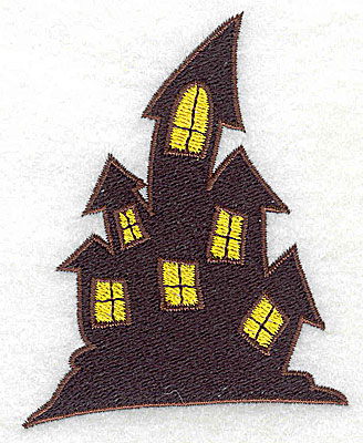 Embroidery Design: Haunted house 2.76w X 3.47h