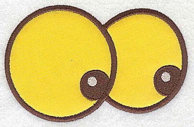 Embroidery Design: Googlie eyes applique 4.70w X 3.01h