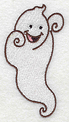 Embroidery Design: Ghost 1.93w X 3.57h