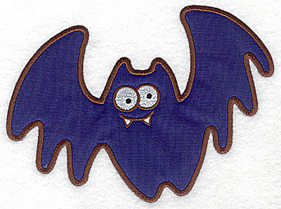 Embroidery Design: Bat applique 6.67w X 4.97h