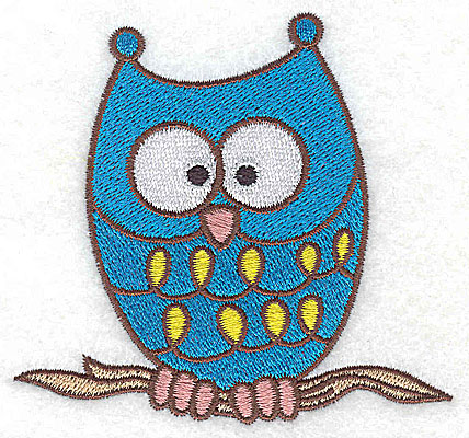 Embroidery Design: Owl 3.46w X 3.29h