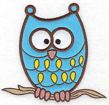 Embroidery Design: Owl double applique 5.18w X 4.94h