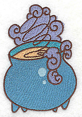 Embroidery Design: Witches cauldron 2.44w X 3.56h