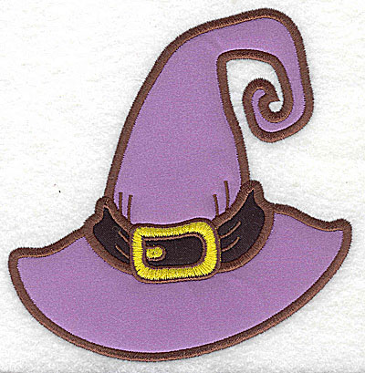 Embroidery Design: Witches hat double applique 4.92w X 4.98h