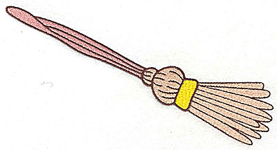Embroidery Design: Broomstick large 6.91w X 3.60h