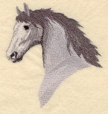 Embroidery Design: Horse Head Medium5.33w X 3.08h