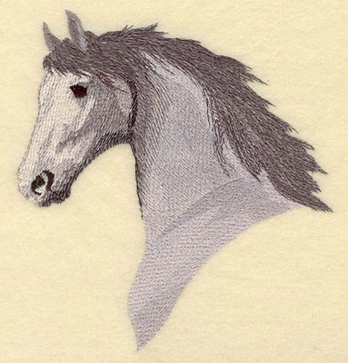 Embroidery Design: Horse Head Large6.41w X 6.96h