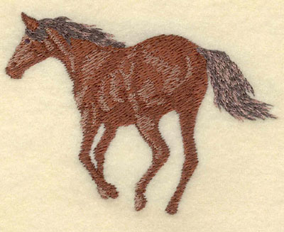 Embroidery Design: Horse Trotting Away Small3.50w X 2.49h