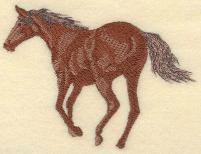 Embroidery Design: Horse Trotting Away Medium5.01w X 3.56h