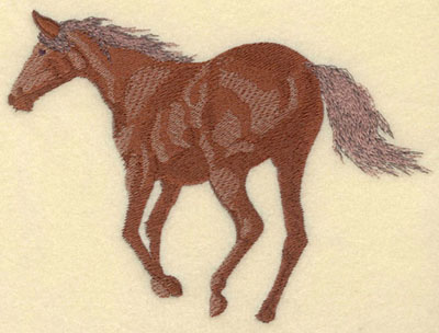Embroidery Design: Horse Trottintg Away Large7.01w X 4.98h