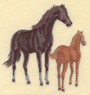 Embroidery Design: Mare with Colt Large4.70w X 5.01h
