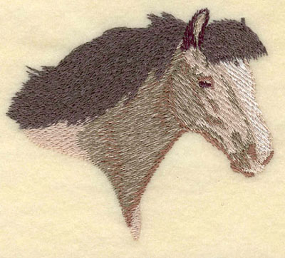 Embroidery Design: Horse Head Facing Right Small3.51w X 3.02h