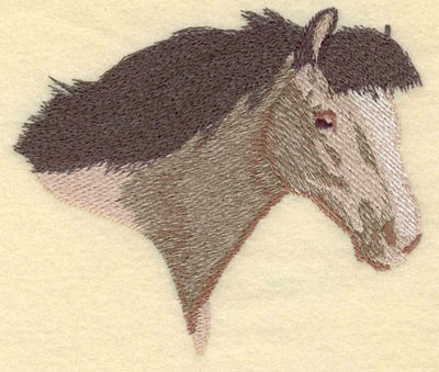 Embroidery Design: Horse Head Facing Right Large5.01w X 4.28h