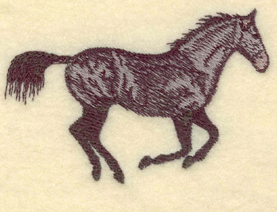 Embroidery Design: Galloping Horse Small3.75w X 2.53h