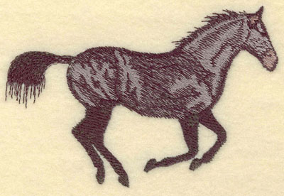 Embroidery Design: Galloping Horse Large5.06w X 3.40h