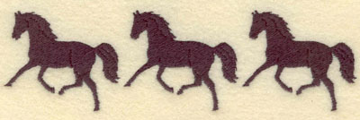 Embroidery Design: Three Horse Border Small5.86w X 1.66h