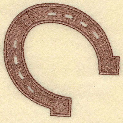Embroidery Design: Horseshoe Small3.03w X 2.96h