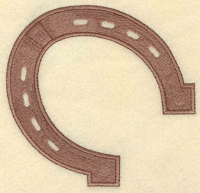 Embroidery Design: Horseshoe Large5.00w X 4.88h