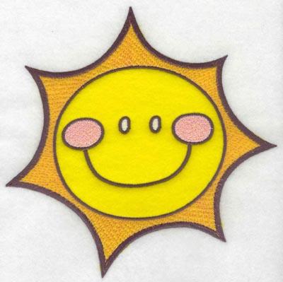 Embroidery Design: Sunshine applique7.53w X 7.49h