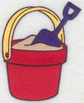 Embroidery Design: Beach pail large4.42w X 5.62h