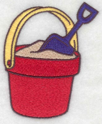 Embroidery Design: Beach pail small2.95w X 3.76h
