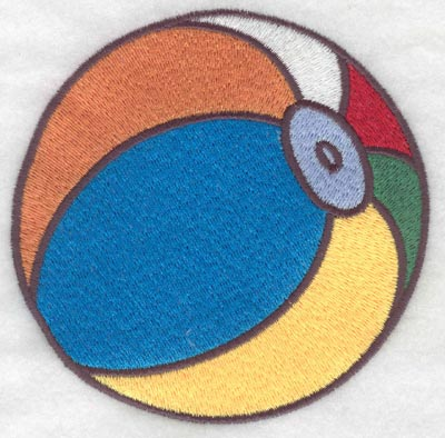 Embroidery Design: Beach ball large3.86w X 3.90h