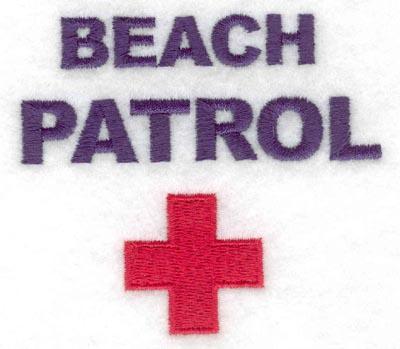 Embroidery Design: Beach patrol3.16w X 2.79h