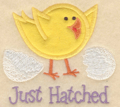 Embroidery Design: Just hatched chick applique small3.45w X 3.91h