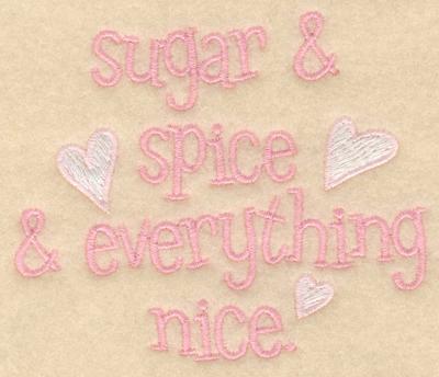 Embroidery Design: Sugar and spice3.30w X 3.91h