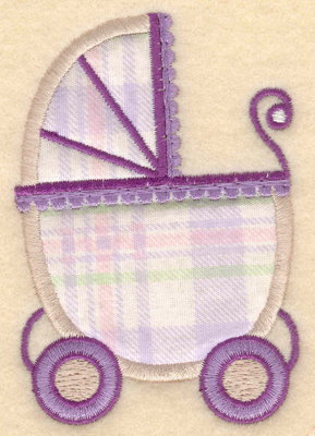 "Embroidery Design: Baby carriage applique2.70""w X 3.88""h"