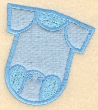 "Embroidery Design: Baby jumper applique3.47""w X 3.91""h"