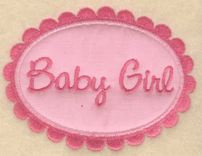 "Embroidery Design: Baby Girl applique3.91""w X 2.95""h"