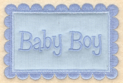 "Embroidery Design: Baby Boy applique3.92""w X 3.65""h"
