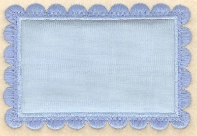 "Embroidery Design: Rectangular border applique3.92""w X 2.65""h"