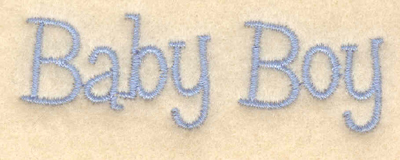 "Embroidery Design: Baby boy text2.79""w X 0.90""h"