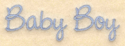"Embroidery Design: Baby boy script3.03""w X 0.97""h"