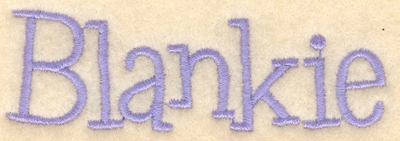 "Embroidery Design: Blankie3.76""w X 1.20""h"