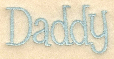 """Embroidery Design: Daddy2.53""""w X 1.22""""h"""
