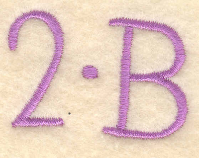 """Embroidery Design: To be1.72""""w X 1.22""""h"""