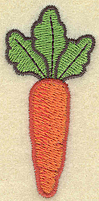 Embroidery Design: Single carrot vertical small 1.22w X 2.57h