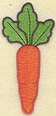 Embroidery Design: Single carrot vertical large 1.58w X 3.34h