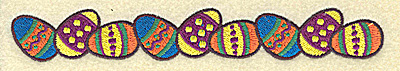 Embroidery Design: Easter egg border 6.98w X 1.00h