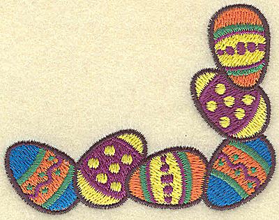 Embroidery Design: Easter egg corner 3.19w X 2.43h