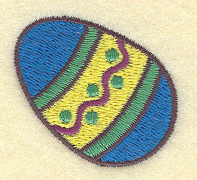 Embroidery Design: Easter egg A 1.76w X 1.63h