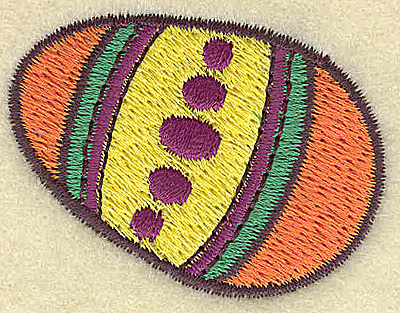 Embroidery Design: Easter egg C  1.88w X 1.46h