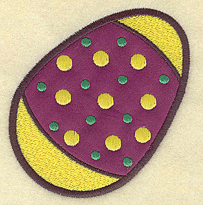 Embroidery Design: Easter egg B single applique 3.31w X 3.58h