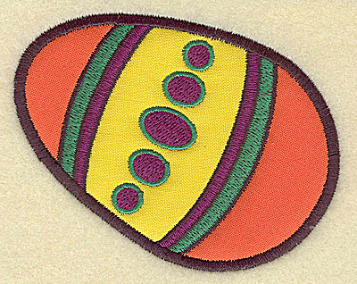 Embroidery Design: Easter egg C double applique 3.81w X 2.97h